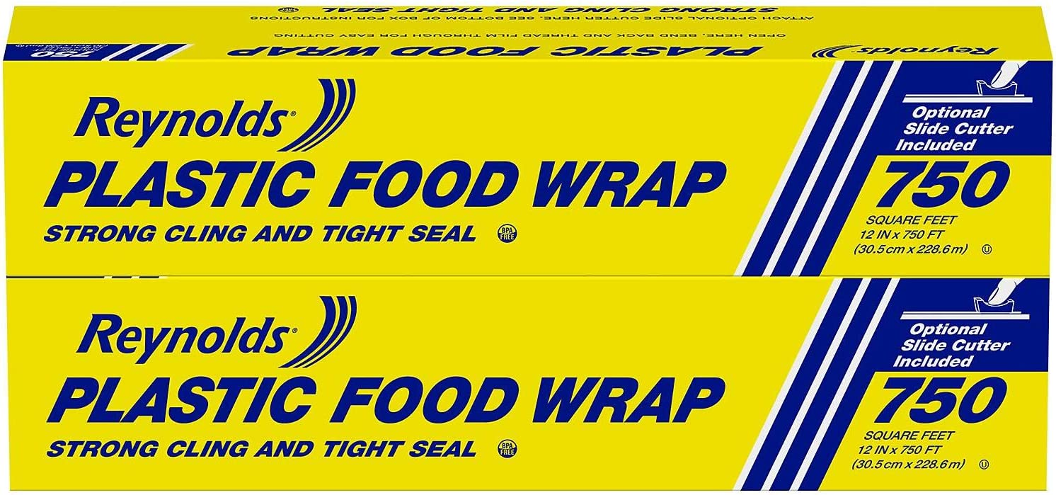 Reynolds Foodservice Plastic Wrap, 750 Square Feet, Pack of 2 (1500 Square Feet Total)