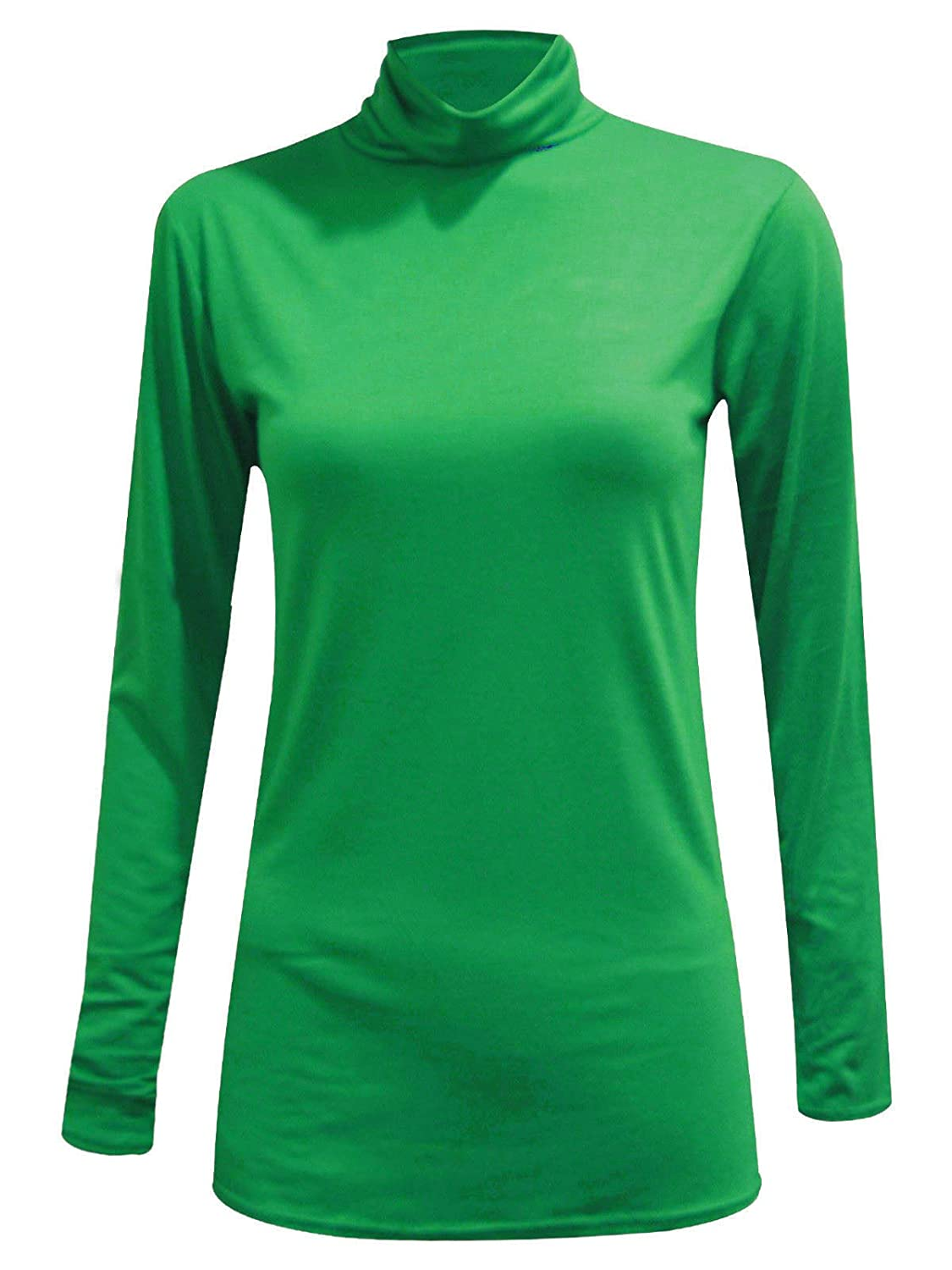 WearAll New Ladies Turtle Neck Long Sleeved Stretch Plain Polo Top Womens Jumper 8-14