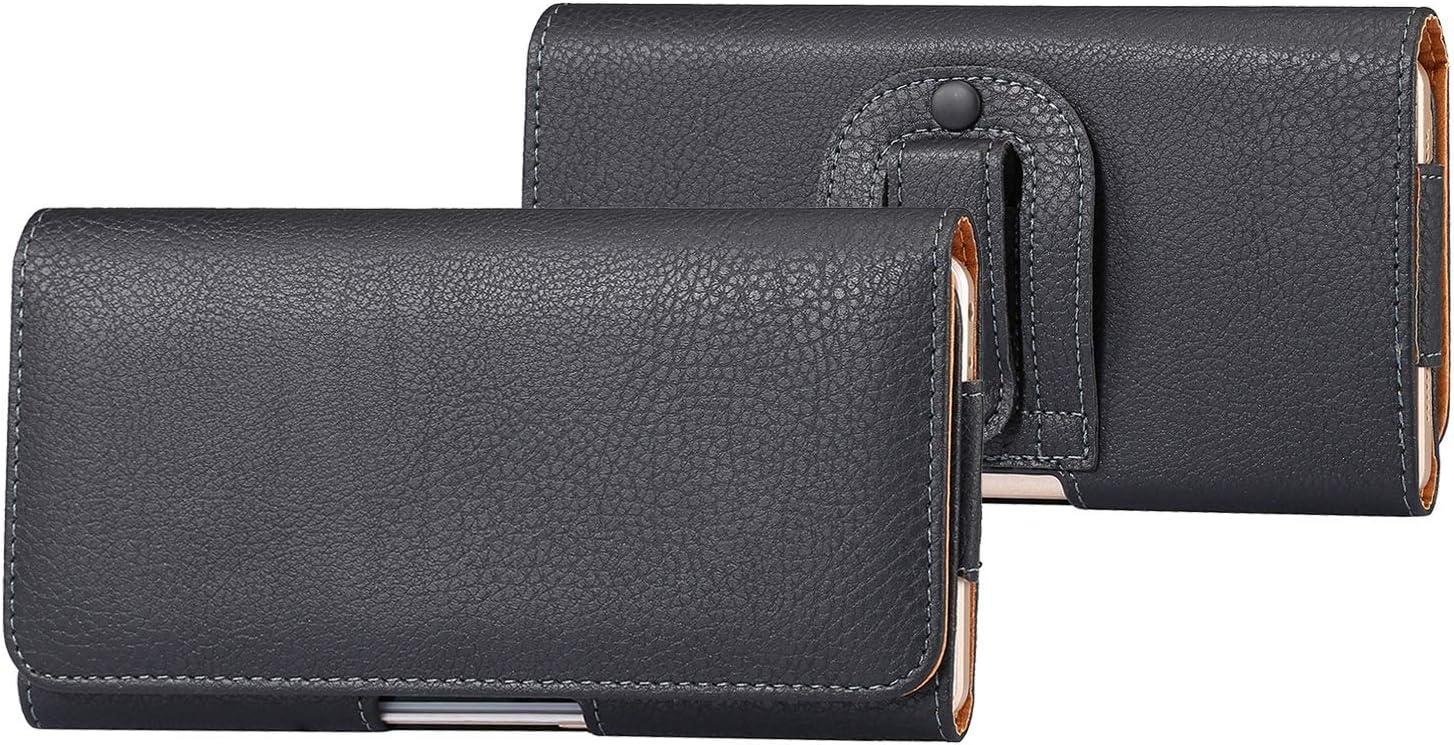 Cuero del teléfono Soporte universal de la bolsa del caso for Samsung Galaxy S20 + / S20 Ultra / S10 Lite / Note 10 Lite / Nota 10 + / A70 / A70S / A20S / A80 / A90, la bolsa de cuero clip de la corre