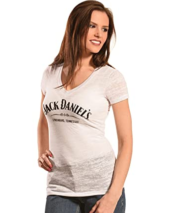 f640eb3202a Jack Daniels Women s Daniel s Burnout V-Neck T-Shirt - 15361464Jd-01 ...