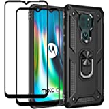 EasyLifeGo Funda para Motorola Moto E7 Plus / Moto G9 Play / Moto G9 con soporte y Protector de pantalla de vidrio templado [