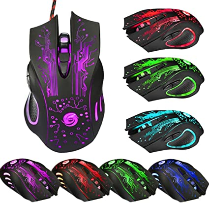 Professional 6 Buttons 5500DPI USB Optical Gaming Mouse Wired Mice For PC Laptop