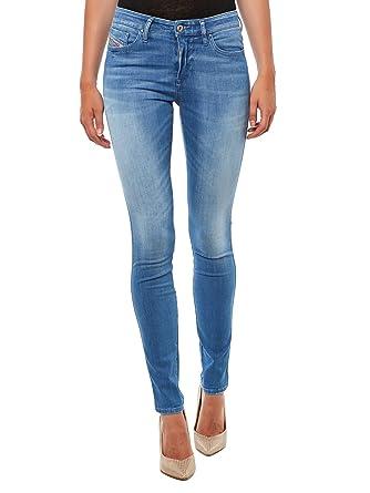 de41350d89bc84 Diesel Skinzee-Low-Zip 0839P Damen Jeans  Amazon.de  Bekleidung