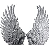 "1 Pair Embroidered iron on patches for clothes Wings design sequins Motif Applique,5.1""*10.6"" by Crqes"