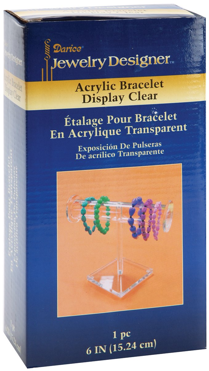 Bracelet Display 6 inches Clear Acrylic (12 Pack)