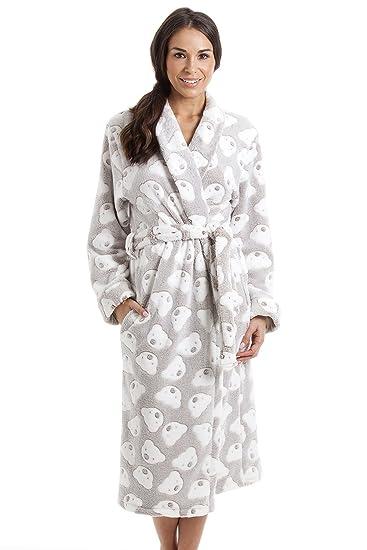 413d19afe8c6f Robe de Chambre très Douce - Polaire - Fabrication au Royaume-Uni Femme  Enfant imprimé Ours Couleur Vison 42/44: Camille: Amazon.fr: Vêtements et  ...