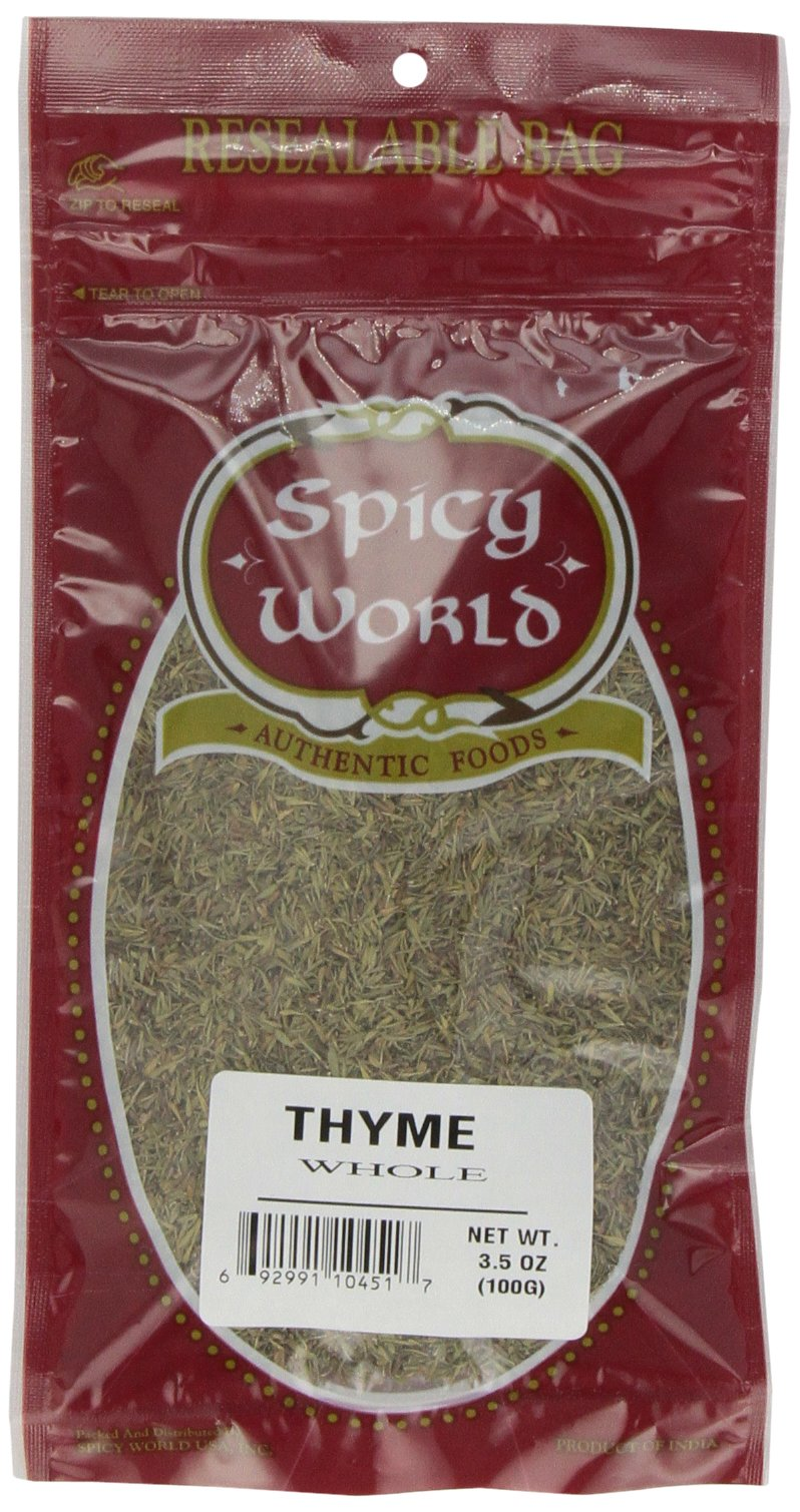 Spicy World Thyme Leaf Whole, 3.5-Ounce Bags (Pack of 6)