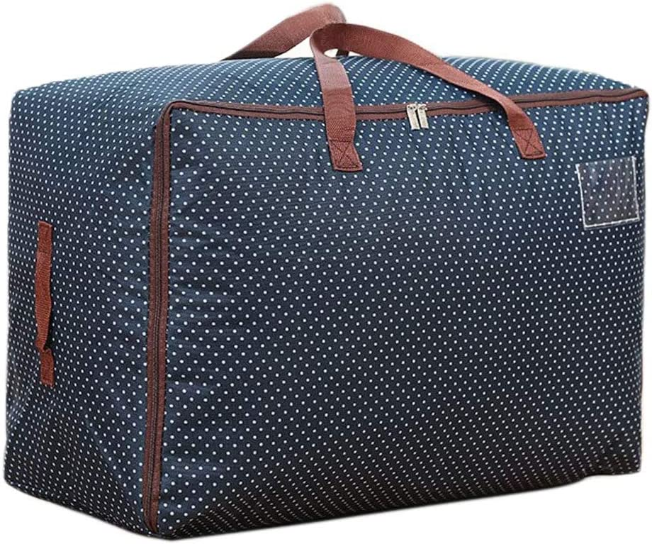 WITERY Large Storage Bag 100L with Zip Waterproof Large House Moving Bags Toys Bags Moisture Smell Proof for Blankets Clothes Duvet and Towels,Pillows Dark Blue