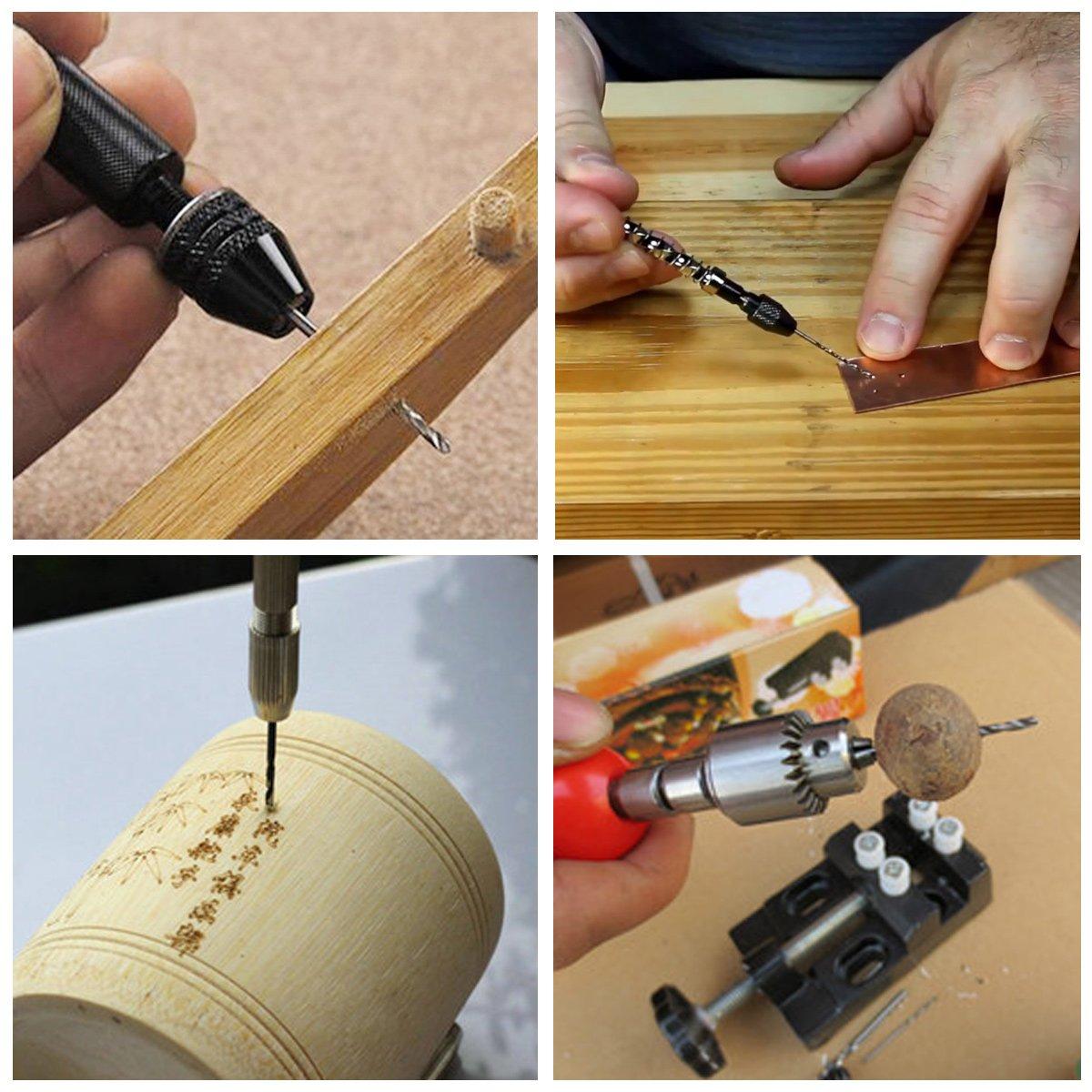 15pcs Micro Twist de forets pour DIY Bijoux Carving Outil Camtek Perceuse /à Main Hand Rotary Drilling Mini Micro Outils de Forage /à Main Outils Rotatifs