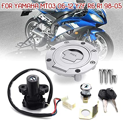 AjaxStore - Motorcycle Ignition Switch Lock Fuel Gas Cap Key Set For Yamaha MT03 06-12 YZF R6 R1 XJ6 FJ09 FZ09 FZ07 FJ13 FZ1 FZ6 FZ8 - - Amazon.com