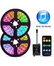 ELlight Dream Color Music LED Strip Lights, 5050 12V 150 LED Built