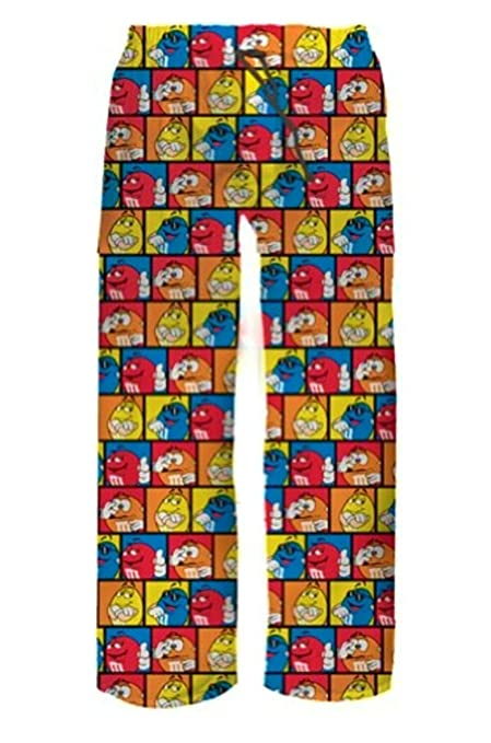M&Ms M&M Candy Character Adult Pajama Lounge Sleep Bottoms Pants Mens Sizing (Large) at Amazon Mens Clothing store: