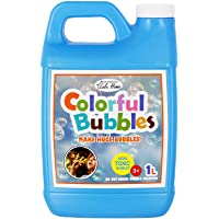 Lulu Home Bubble Concentrated Solution, 1 L/ 33.8 OZ Bubble Refill Solution Up to 2.5 Gallon for Kids Halloween Party…