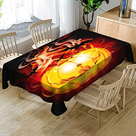 HACLJPP Mantel Mesa Rectangular, 3D Antimanchas Manteles, Thriller ...