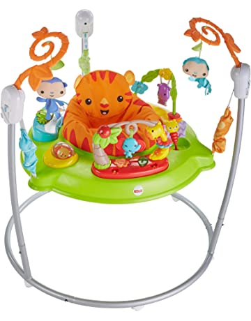 Fisher-Price CHM91 Roaring Rainforest Jumperoo, New-Born Baby Activity Centre with Music and Lights - UK