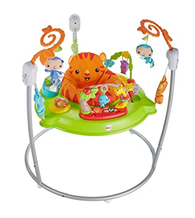 Fisher-Price CHM91 Roaring Rainforest Jumperoo, New-Born Baby Activity Centre with Music and Lights-Best-Popular-Product