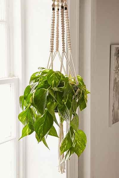 Iris Macrame Hanging Planter - Urban Outfitters