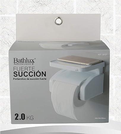 Portarollos para papel higienico portarollos baño porta rollo de papel higienico blanco con ventosa succion fuerte