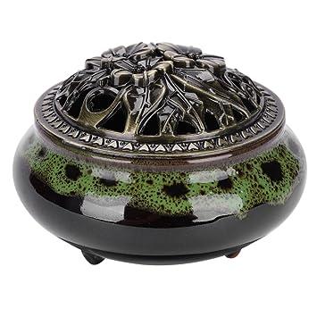 Incensario Vintage quemador de incienso Cono de cerámica elefante cuenco Buda soporte estufa brûle incienso humo
