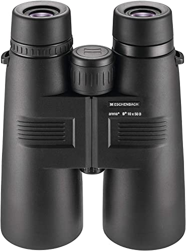 Eschenbach Arena D 10×50 Binoculars for Adults for Bird watching – High Power Optics Waterproof Fogproof Black 26.1 oz