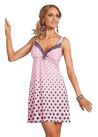 R-Dessous exklusives Damen Nachtkleid Negligee Sleepshirt Viskose ...