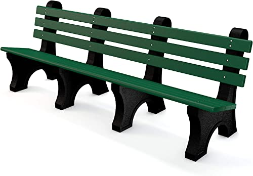 Frog Furnishings Comfort Park Avenue Bench, 8 , Green