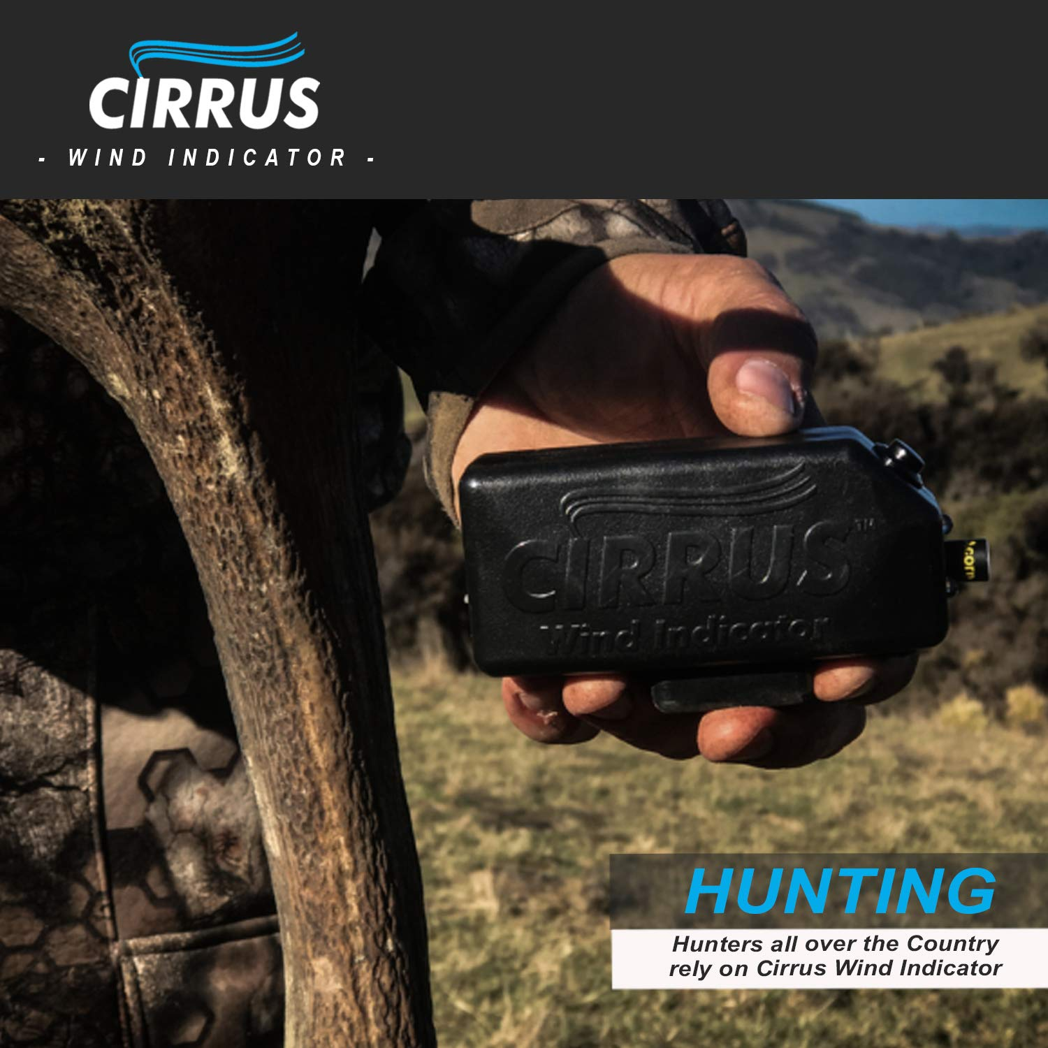 Cirrus Wind Indicator for Hunting - The Perfect Wind Checker Alternative to Messy Powder by Cirrus (Image #8)