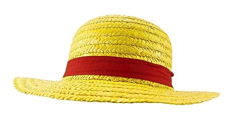 One Piece Monkey D. Luffy Cosplay Chapeau de paille  Amazon.fr ... fc98836539c