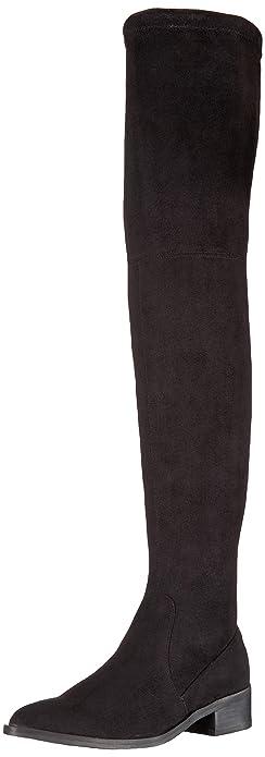 70546960a52 Steve Madden Women s Jestik Over The Knee Boot Black 5.5 M ...
