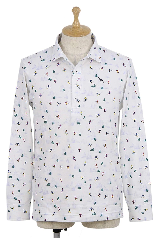 ポロシャツ メンズ アダバット adabat 2018 秋冬 ゴルフウェア 643-15125 L(48) ホワイト(102) B07K57GF4C