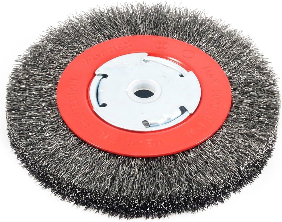 "Forney Wire Wheel Brush 6 /"" Crimp"