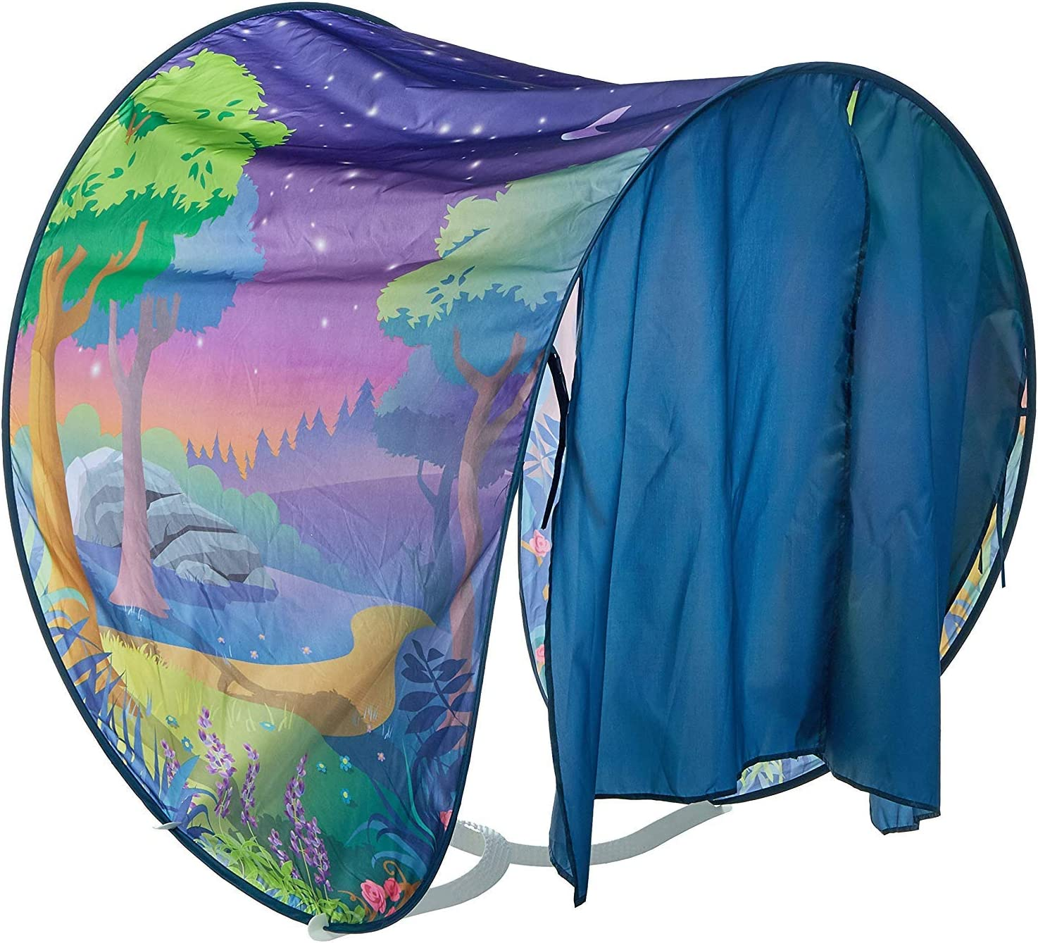 Kozyshow Boys Dream Bed Tent Kids Dinosaur Island Play Tents Deluxe Twin Size Pop up Sleep Tent Children Foldable Fantasy Playhouse Birthday Gifts