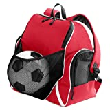 Augusta Sportswear TRI-Color Ball Backpack OS Red/Black/White