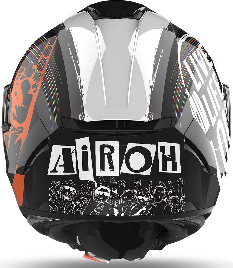 Airoh CASCO SPARK ROCKNROLL BLACK GLOSS S