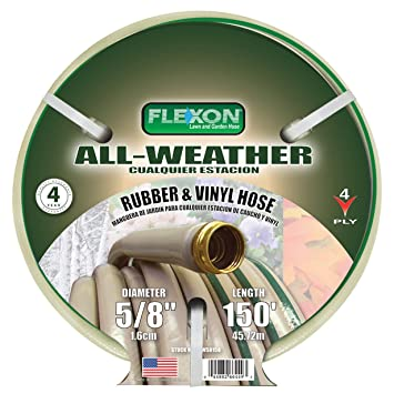 Flexon FAW58150 All Weather Rubber U0026 Vinyl Hose, 150 Feet