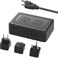 JZBRAIN Travel 95 to 250V Power Strip with USB Surge Protector