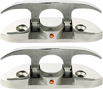 2Pcs FOLDING CLEAT Boat Marine Hardware Stainless Steel Cleat 4-1//2/'/'