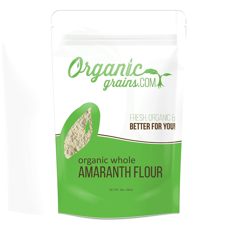 harina de Amaranth orgánico sin OMG de 3 libras.