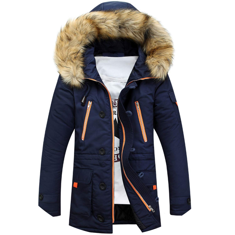 Jacket Men's Coats Male Outerwear Casual Long Cotton Wadded Men Hooded Coat Lady night