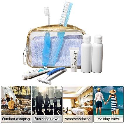 Kit de viaje, Lucky Fine de crema, afeitado, pasta de dientes, cepillo
