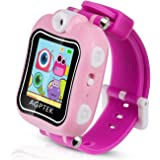 AGPTEK K6 Smartwatch for Kids with Rotaing Camera,Video,Games,Alarm Clock,Recording,Pink