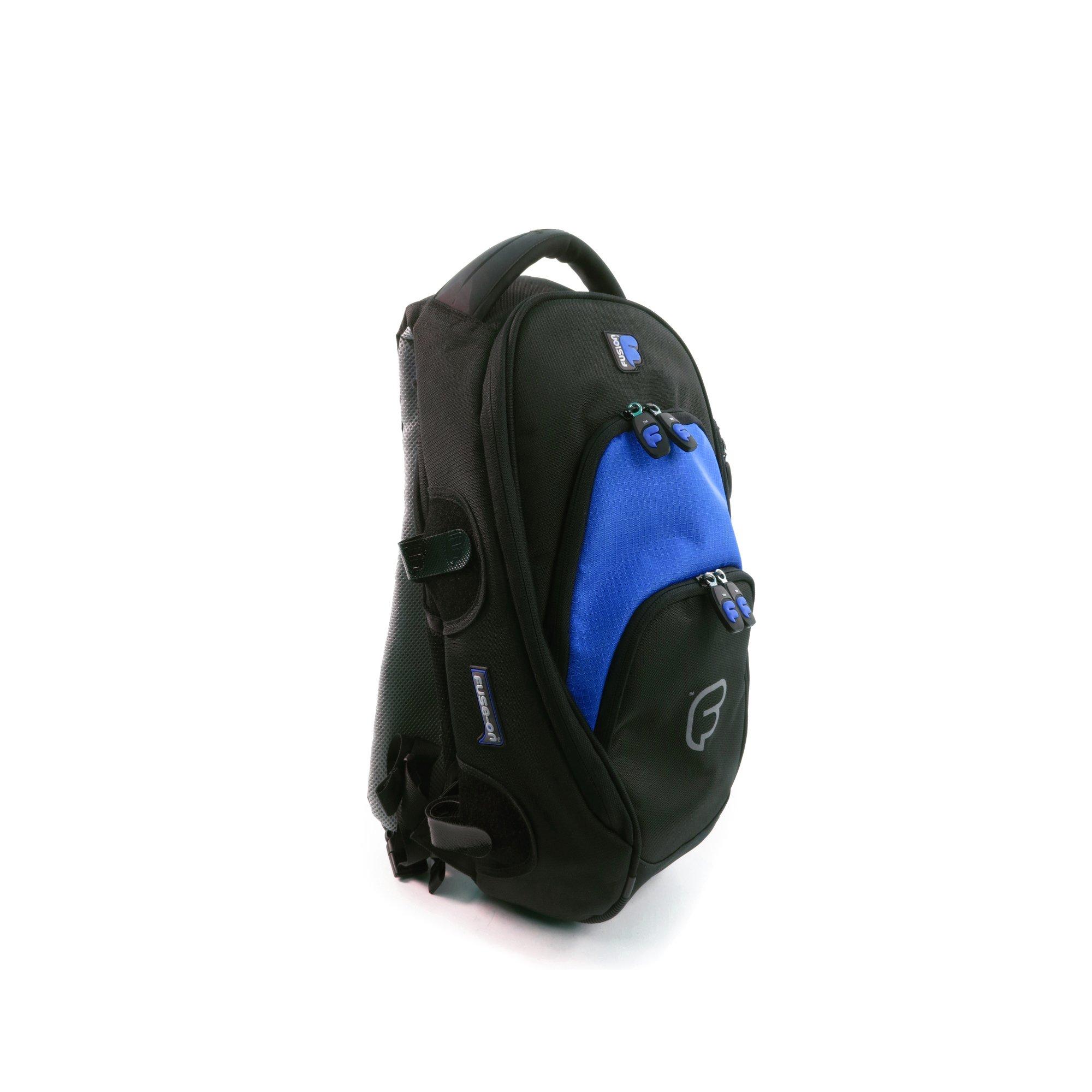 Fusion Premium Series - Medium Backpack, Black/Blue