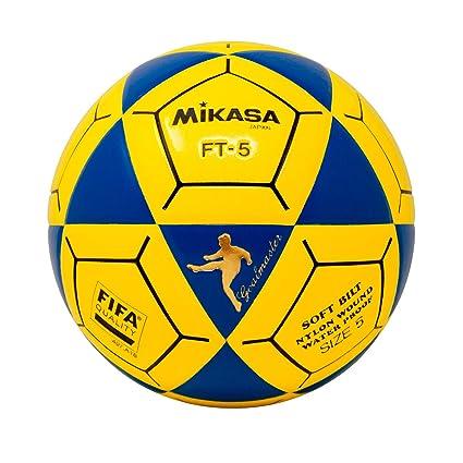Mikasa FT5 Goal Master - Balón de fútbol, color azul y amarillo ...