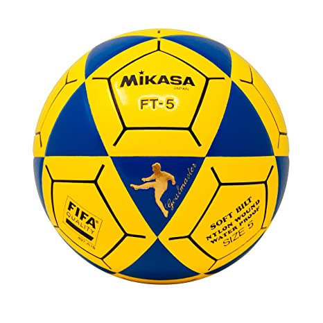 1138e4293 Amazon.com : Mikasa FT5 Goal Master Soccer Ball, Blue/Yellow, Size 5 : Sports  & Outdoors