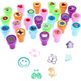 Stamps for Kids,LUCKYBIRD Best Sell Self Inking Stamps Heart Toy Stamp / kids stamp set/ Funny Plastic Stamps, 26 Count