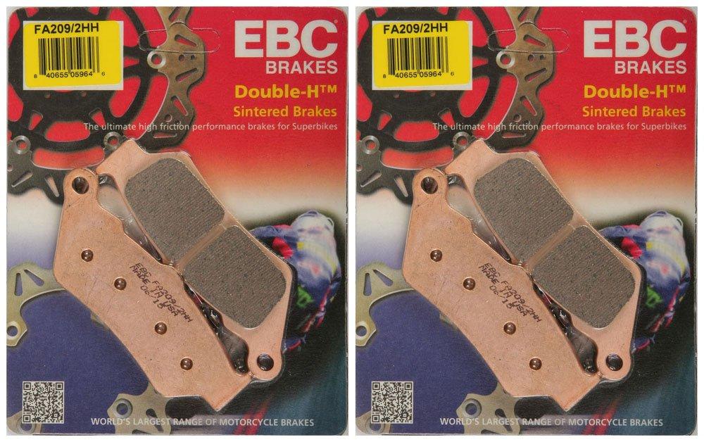 EBC Double-H Sintered Metal Brake Pads FA209 2HH (2 Packs - Enough for 2 Rotors)