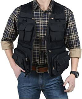 b861b4697 EKLENTSON Men's Quick Dry Breathable Outdoor Travel Photography Journalist  Fishing Vest Jacket with 16 Pockets