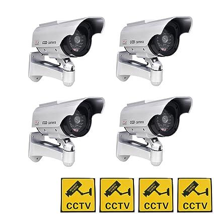 Phot-R 4x accionada solar al aire libre del CCTV imitacion falsa cubierta IR LED