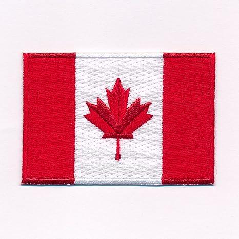 Hegibaer 30 X 20 Mm Kanada Flagge Canada Flag Ottawa Patch Aufnäher Aufbügler 0636 Mini Auto