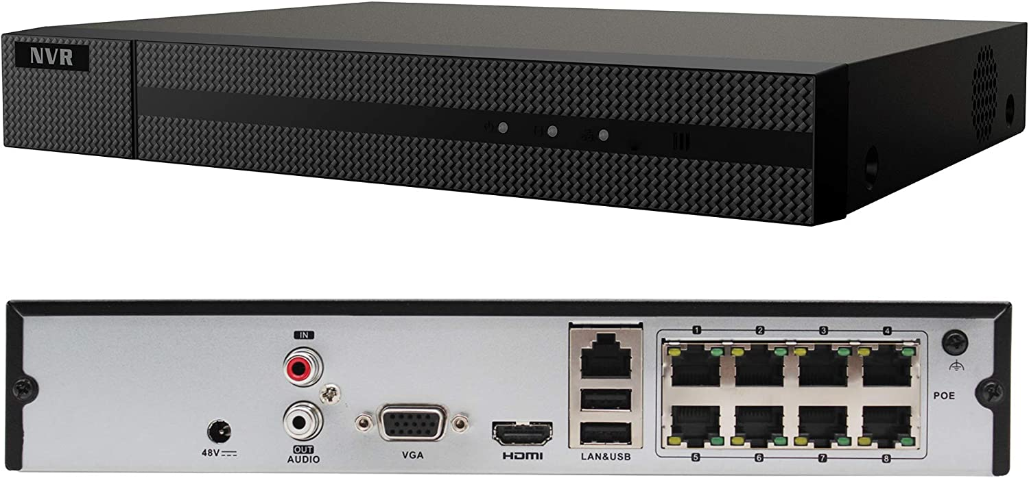 Anpviz 8CH 4K PoE NVR (1080p/3MP/4MP/5MP/6MP/8MP/4K) POE Network Video Recorder IP Home Security Camera System Video Recorder,H.265+ ONVIF Compliant, IVMS4200 Backup
